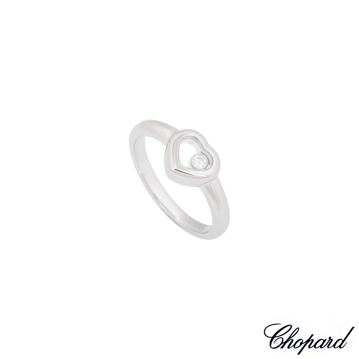 Chopard White Gold Heart Happy Diamonds Ring 82/4854